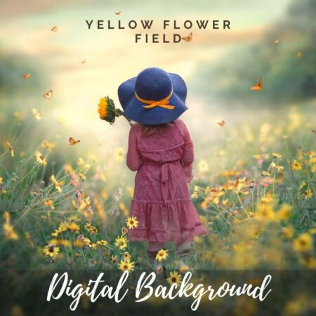 JD Yellow Flower Fields Digital Background